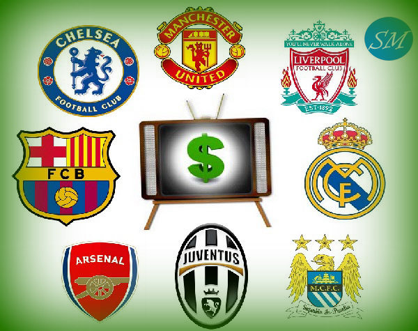 Top Football Teams TV earnings