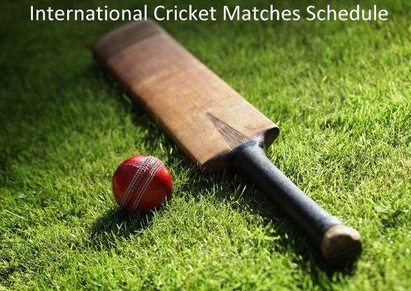 international cricket schedule