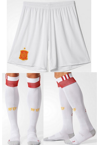 spain away kit 2016-17 shorts and socks