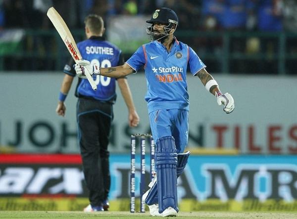 virat kohli scored 85 runs in first odi against new-zealand