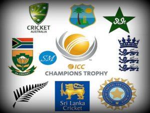 ICC Champions Trophy Teams.