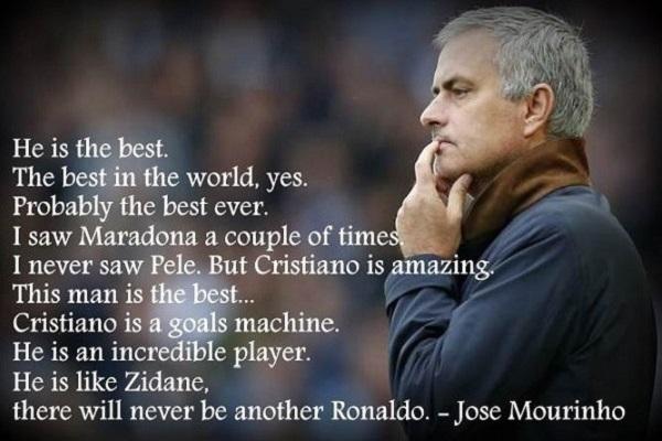 Jose Mourinho quotes about Cristiano Ronaldo