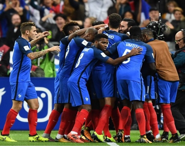France qualify for FIFA world cup 2018