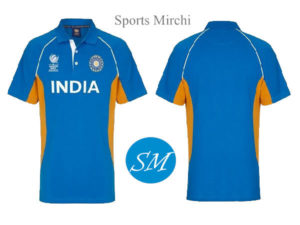 Indian cricket team jersey for 2017 champions trophy.