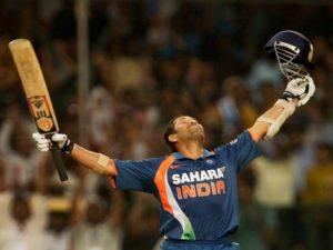 Sachin Tendulkar scored first double ODI century.