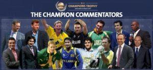 ICC Champions Trophy 2017 Commentators List