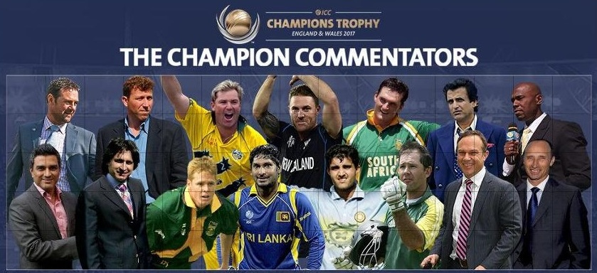ICC Champions Trophy 2017 Commentators List