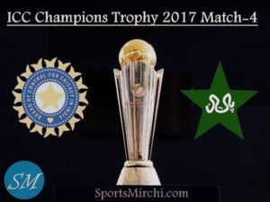 India vs Pakistan 4th match ICC Champions Trophy 2017