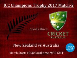 NZ vs AUS Live cricket Score 2017 ICC Champions Trophy