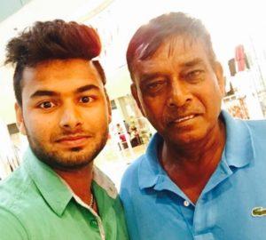 Rishabh Pant with coach Tarak Sinha