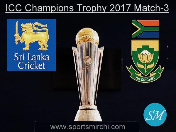 Sri Lanka vs South Africa match-3 live score 2017 ICC Champions Trophy