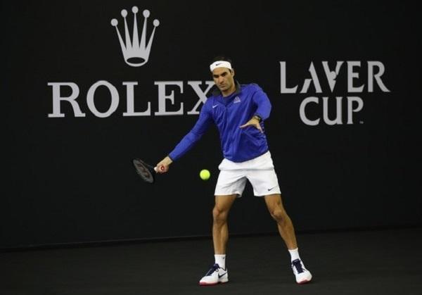 Roger Federer in Laver Cup