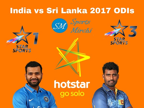 India vs Sri Lanka 2017 ODI Live Streaming, Telecast
