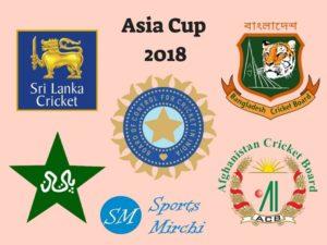 Asia Cup 2018 teams, schedule