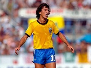 Brazilian Zico never won FIFA world cup trophy