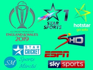 Cricket world cup 2019 broadcast, tv channels list