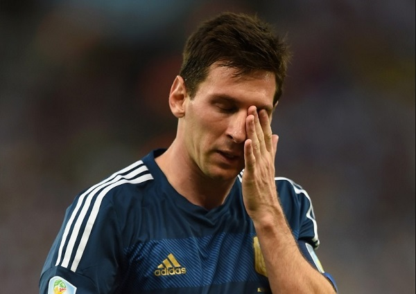 Lionel Messi failed to win FIFA world cup