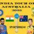 India Tour of Australia 2018 Full Schedule, Match Dates