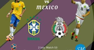 Brazil vs Mexico Live Stream, TV Channels Round of 16 World Cup 2018