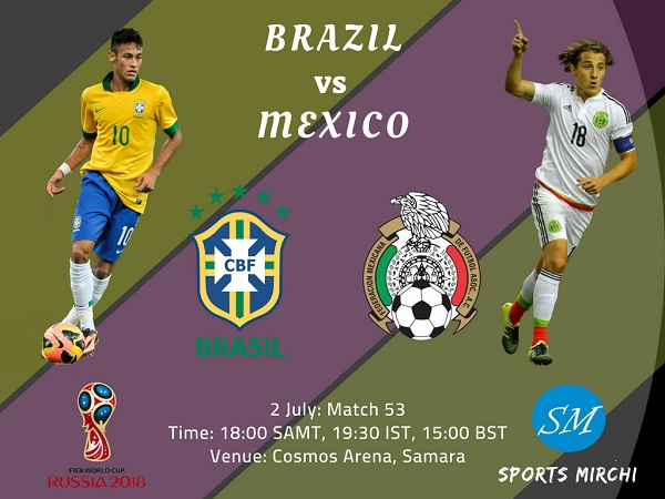 Brazil vs Mexico 2018 world cup round of 16 match