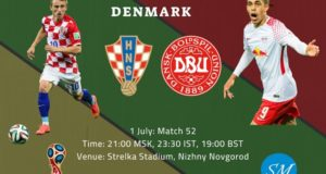 Croatia vs Denmark Live Streaming, TV Channels 2018 World Cup