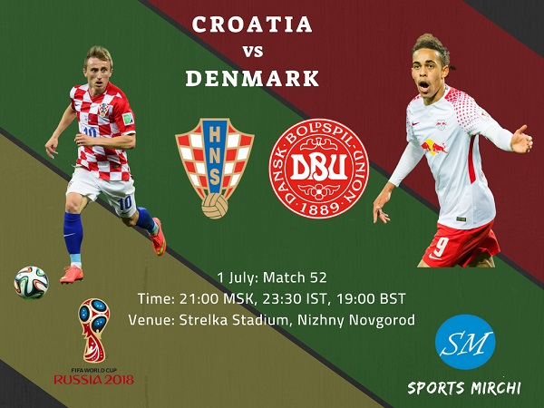 Croatia vs Denmark 2018 World Cup round of 16 match