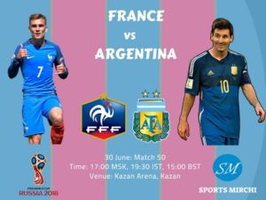 France vs Argentina 2018 world cup round of 16 match
