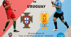 Uruguay vs Portugal Live Stream, TV Channels 2018 World Cup Round of 16