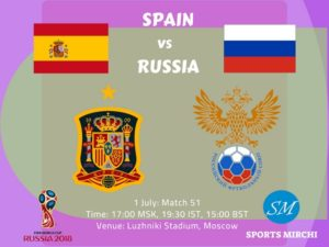 Spain vs Russia 2018 World Cup Round of 16 match schedule