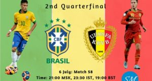 Brazil vs Belgium Live Stream, TV Channels 2018 world cup quarter final