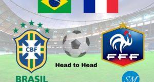 Brazil vs France Head to Head Football Rivalry