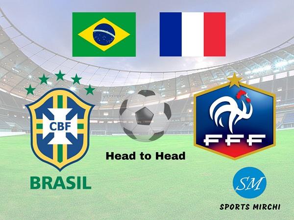 Brazil vs France football rivalry, head to head record