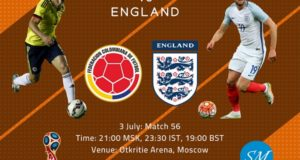 Colombia vs England live streaming, coverage, tv channels 2018 world cup