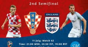Croatia vs England 2018 World Cup Semi Final TV Channels, Live Stream