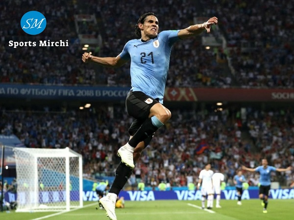 Edinson Cavani scored two goals against Portugal in round of 16 at world cup 2018