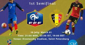France vs Belgium 2018 world cup semi-final live stream, tv channels