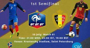 France vs Belgium 2018 world cup semi-final live stream, tv channels