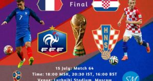 France vs Croatia Final: 2018 World Cup Live Stream, TV Channels