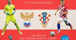 Russia vs Croatia Live Streaming, TV Channel 2018 World Cup Quarterfinal