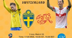 Sweden vs Switzerland Live Streaming, TV Channels 2018 World Cup