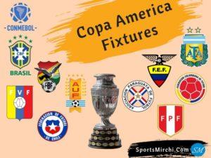 Copa America Fixtures, Matches, schedule