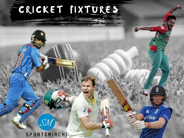 Cricket fixtures, matches, schedule