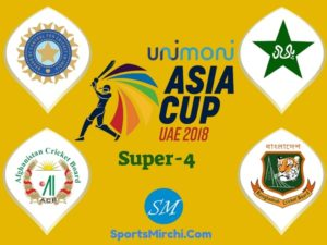 Asia Cup 2018 Super-4 teams, matches, schedule, fixtures