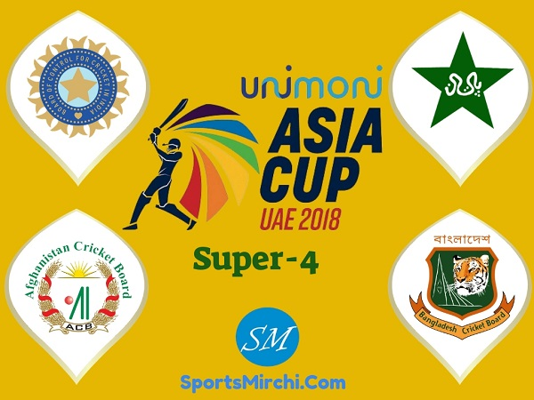 Asia Cup 2018 Super-4 teams, matches, schedule, fixtures