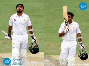 Babar Azam scored maiden test hundred against New Zealand in Dubai