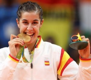 Badminton player Carolina Marin won gold medal in 2016 Rio Olympic Games