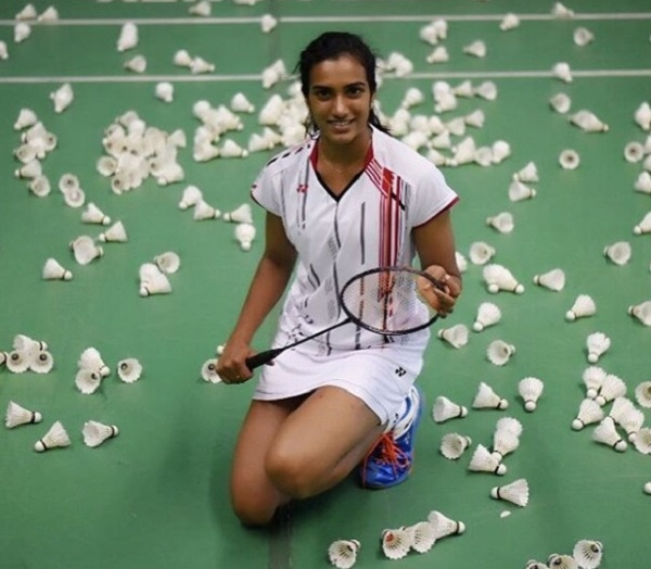 Badminton player PV Sindhu from India