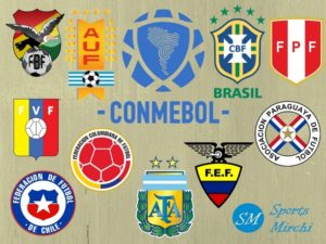 CONMEBOL Members, Countries, Teams Logo