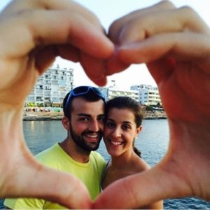 Carolina Marin with boyfriend Alejandro