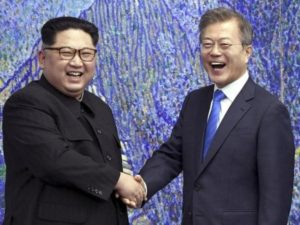 North Korea boss Kim Jong-un and South Korea President Moon Jae-in bid together for 2032 Olympics